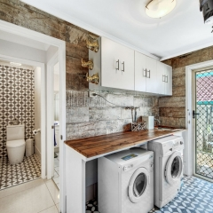 laundry room and toilet - real estate photography
