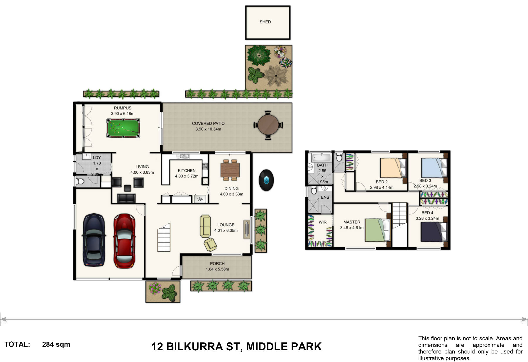 Colour furnished floor plan