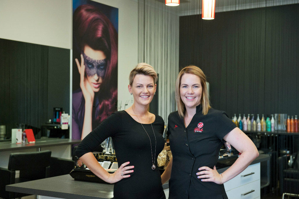 beauty salon employees - Corporate Team Photograph
