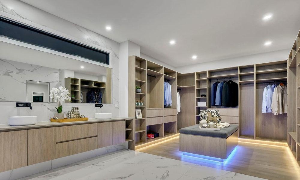 Walk in wardrobe - photography Brisbane