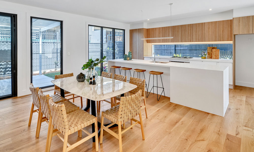 Kitchen and dining room photograph